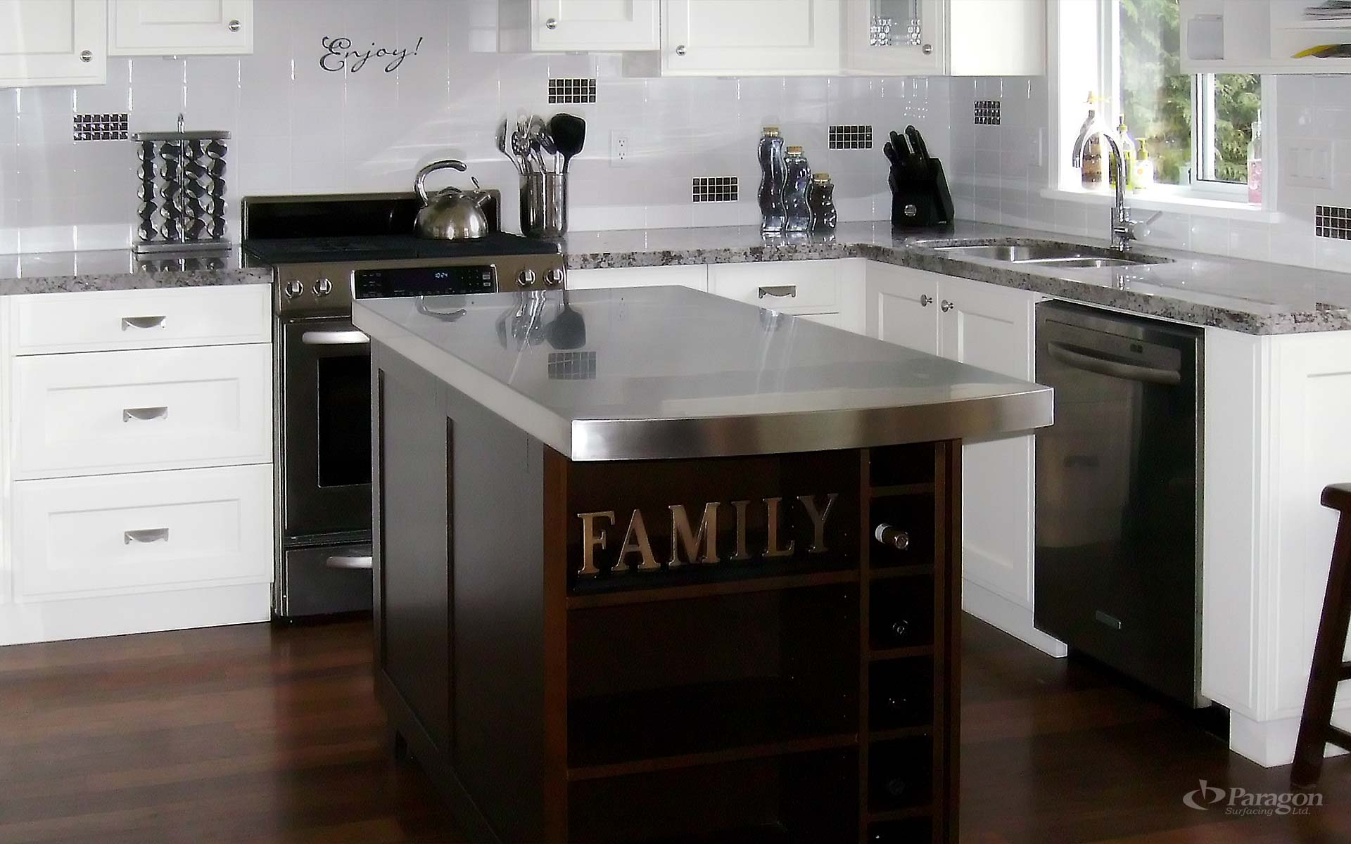 Custom Stainless Steel Countertops Vancouver Richmond Bc Paragon Surfacing